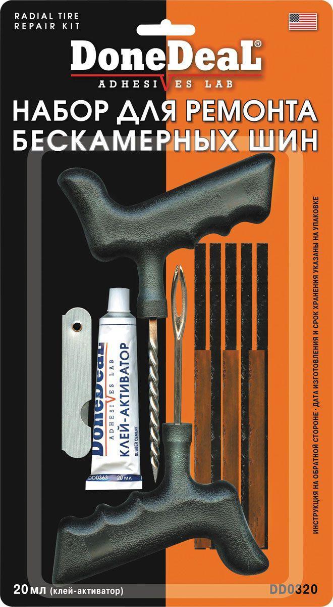 Набор для ремонта бескамерных шин авто Done deal 0320 20мл