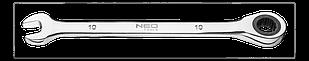 Ключ комбинированный с трещоткой 10мм NEO Tools 09-064