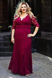 Платье  БАТАЛ гипюр в расцветках 48334