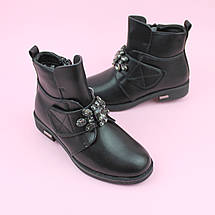 Полусапожки черные для девочики с камнями тм Том.м размер 37, фото 2