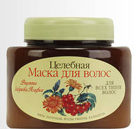 """Маска  """"Целебная"""" на основе мяты перечной,ягод рябины и календулы Рецепты бабушки Агафьи,250 мл."""