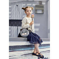 Фетровая детская сумка Miss Kitty с кожаными коричневыми вставками