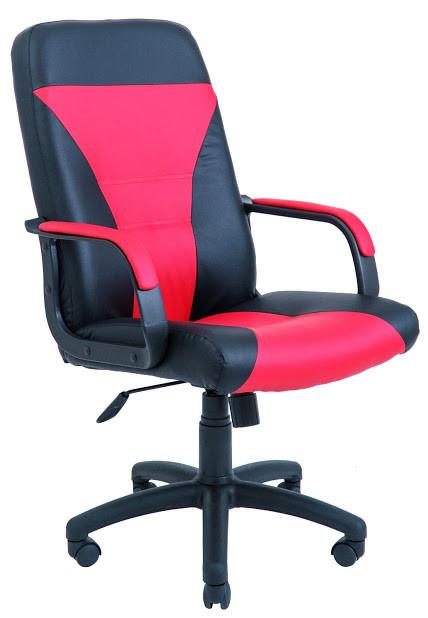 Кресло Сиеста пластик 1 кат черно-красное