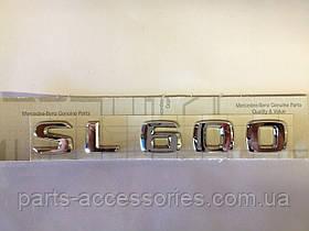 Mercedes SL R230 R 230 Эмблема значок на багажник SL600 SL 600 новый оригинал