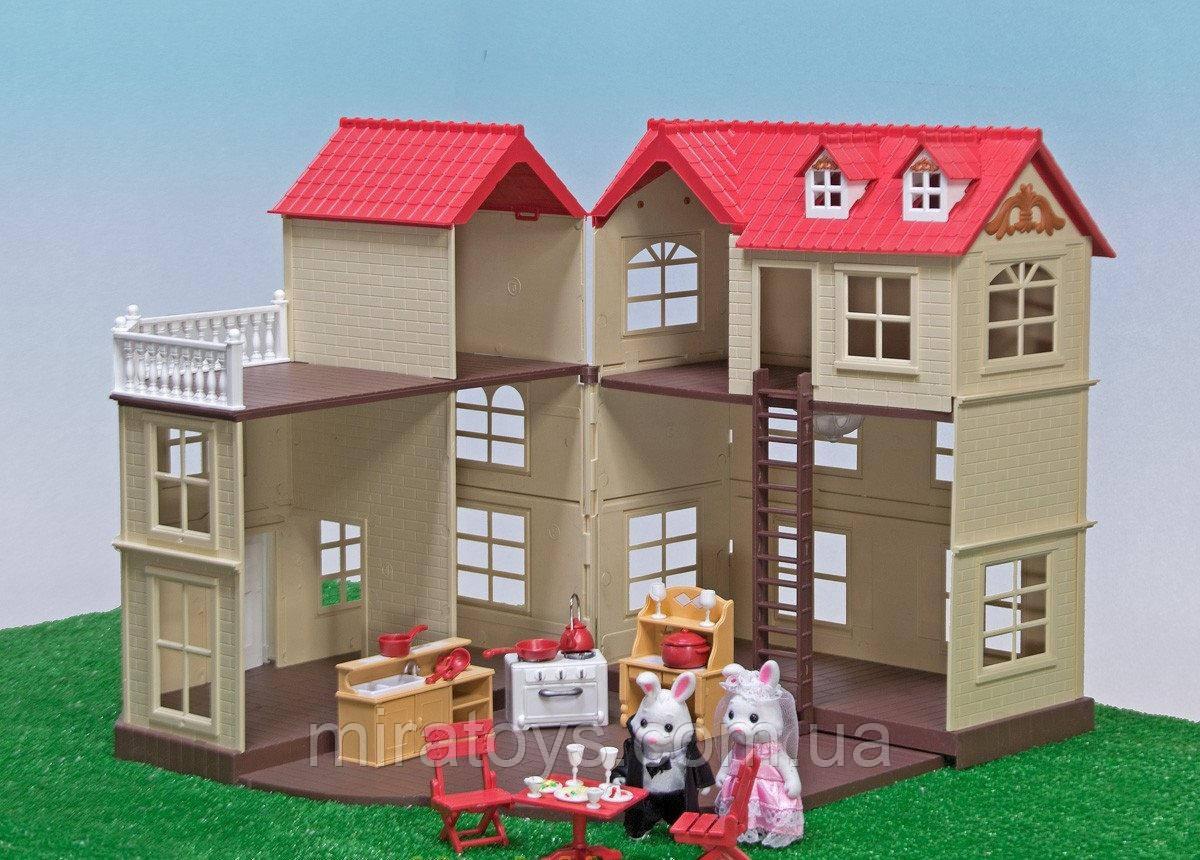 ✅Тварини флоксовые Happy Family 012-10 Заміський будиночок аналог Сильваниан Фемилис (Sylvanian Families)