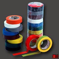 Изолента 3M Temflex 1300 (19 мм. х 20 м. х 0,13 мм.)Черная,красная,желто-зеленая.