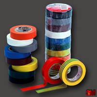 Изолента 3M Temflex 1300 (19 мм. х 20 м. х 0,13 мм.)Черная,красная,желто-зеленая., фото 1