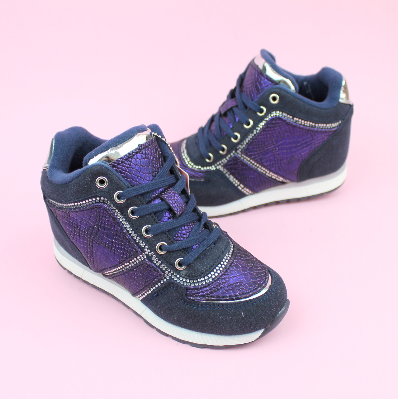 Ботинки демисезонные девочке сникерсы тм Bi&Ki размер 31,35