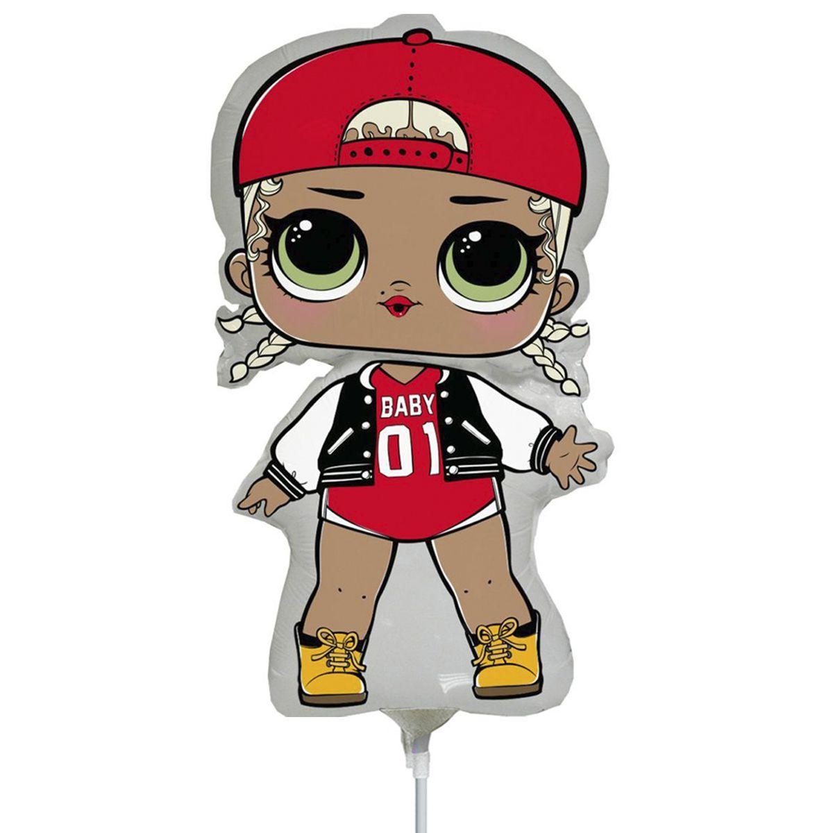 Фольгированный шар 14' Flexmetal Кукла LOL МС Сваг, 34 см