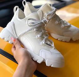 Женские кроссовки Dior D-connect белые 36-40рр диор. Живое фото. Топ реплика ААА+