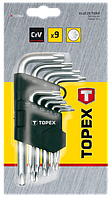 Набір ключів зіркоподібних Torx 9шт TOPEX 35D960