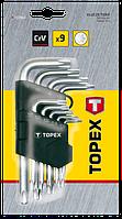 Набір ключів зіркоподібних Torx подовжених 9шт TOPEX 35D961