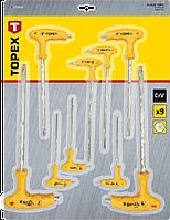 Набір ключів зіркоподібних Torx з T образної рукояткою 9шт TOPEX 35D968
