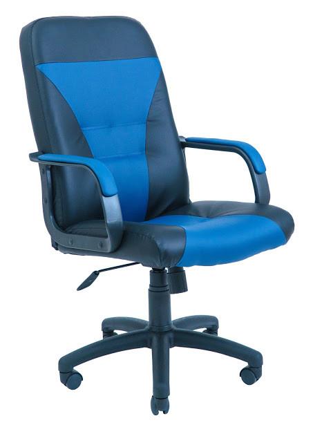 Кресло Сиеста пластик 1 кат черно-синее
