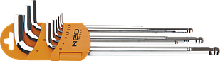 Набір шестигранних ключів 1,5-10мм 9шт NEO 09-525