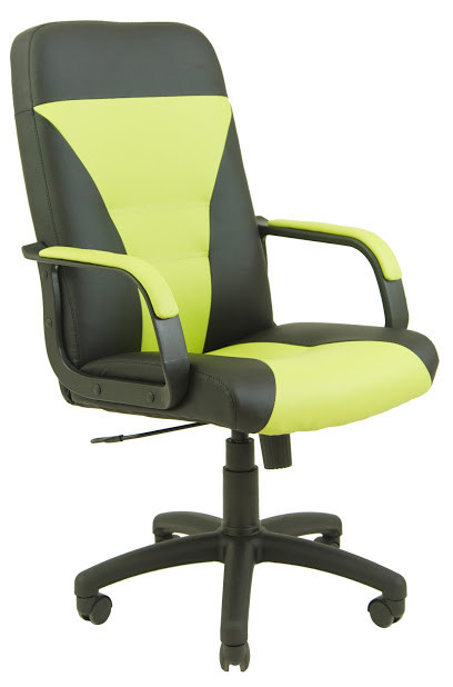 Кресло Сиеста пластик 1 кат черно-салатовое