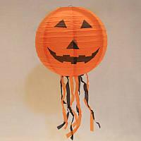 """Куля підвісна, паперова """"Гарбуз"""" на Halloween, 30*70 см, Декор подвесной """"Тыква"""" на хэллоуин"""