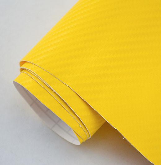 Карбонова плівка 3D жовтий 100х152 див.