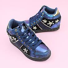 Ботинки сникерсы девочке синие тм Bi&Ki размер 32,33,34,35,36