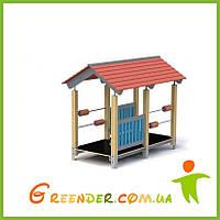 Детский игровой комплекс домик из дерева