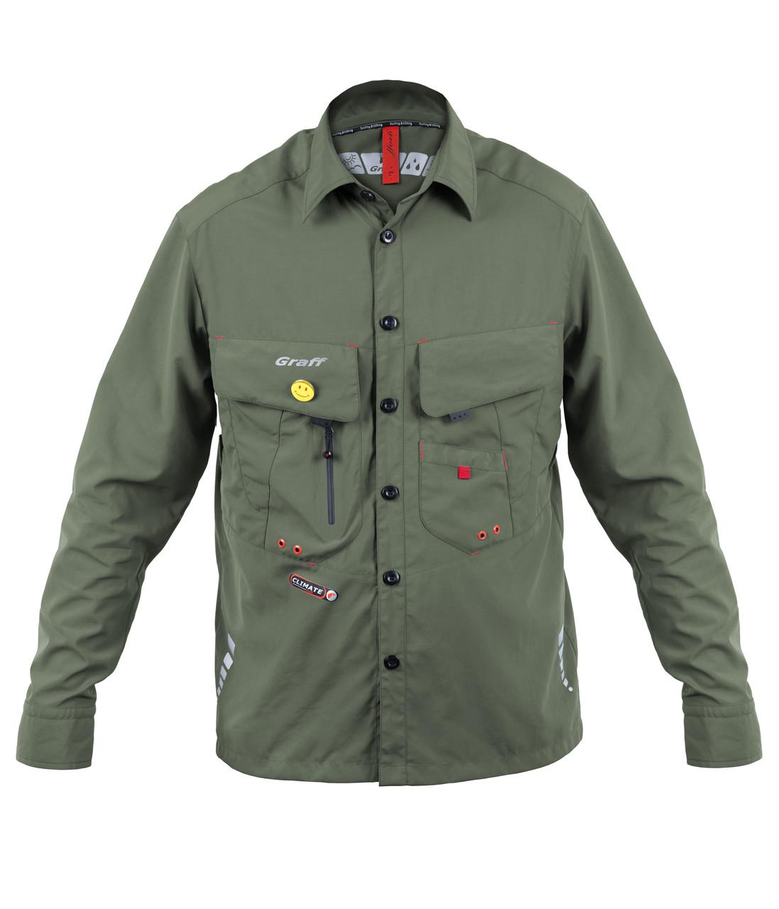 Рубашка для рыболовов 805-KO-CL c защитой от ультрафиолета UPF30