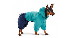 "Дождевик Pet Fashion ""Бинго""  бирюза/ синий"