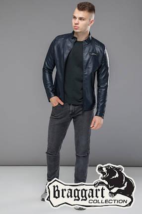 Мужская весенне-осенняя куртка 36361 темно-синяя, фото 2