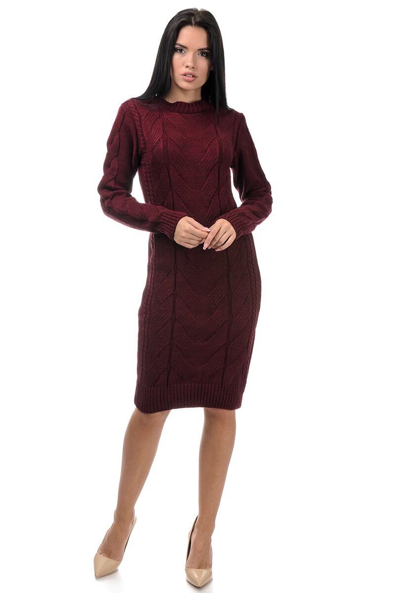 Женское платье вязаное 42-46