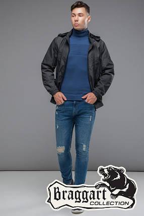 Мужская темно-серая осенняя куртка (р. 48-56) арт. 38399 серый, фото 2