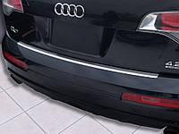 Накладка на задний бампер Audi Q7 2006-2015, полированная сталь 35730