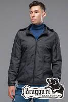Мужская темно-серая осенняя куртка (р. 48-56) арт. 38399 серый 48