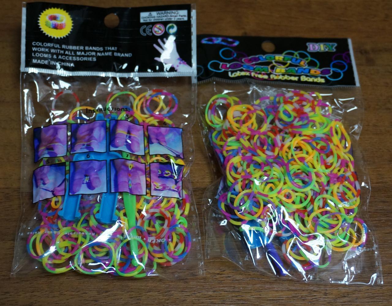 Резинки для плетения браслетов Rainbow loom bands Расцветка 1 (товар при заказе от 200 грн) - магазин-студия Цацки в Чернигове