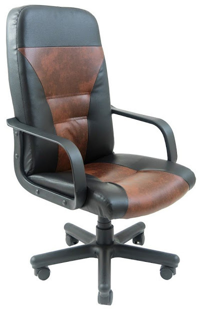 Кресло Сиеста пластик 2 кат черно-коричневое