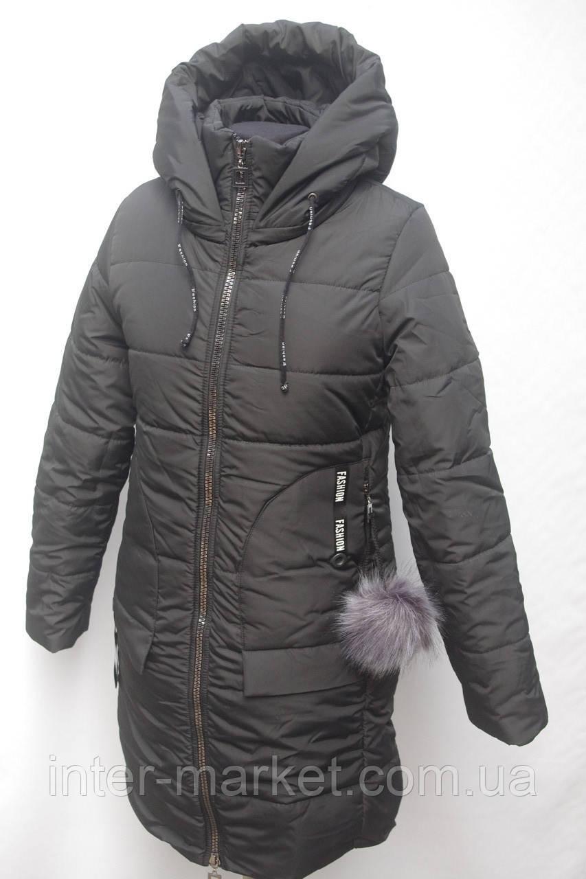 Очень теплая удлиненная женская  куртка с капюшоном  44-50р, фото 1