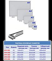Рамка алюминиевая для плакатов А5 формата