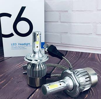 Светодиодные лампы Led C6 H4 ближний/дальний (комплект)