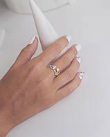 Золотая Птичка - серебряное кольцо