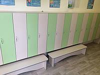 Шкаф для одежды 6-ти секционный с лавочкой Design Service (028-1)