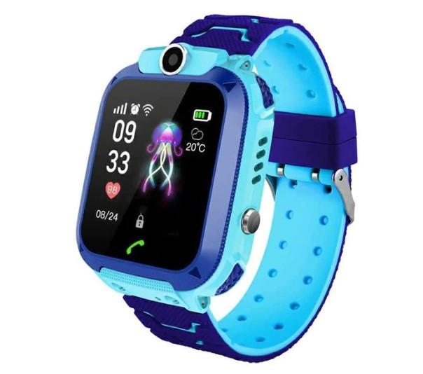 Детские Водонепроницаемые часы с gps Smart baby Q12 голубые