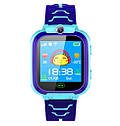 Детские Водонепроницаемые часы с gps Smart baby Q12 голубые, фото 2