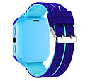 Детские Водонепроницаемые часы с gps Smart baby Q12 голубые, фото 3