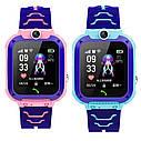 Детские Водонепроницаемые часы с gps Smart baby Q12 голубые, фото 7