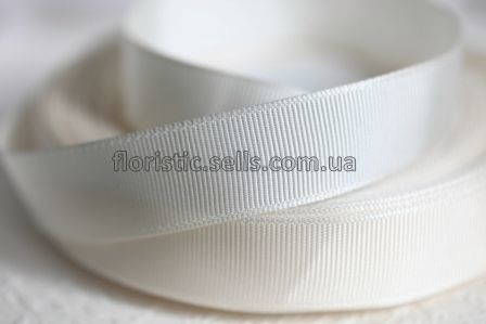 Лента репсовая 1,2 см, белая