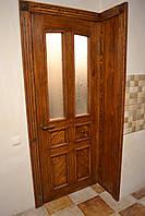 Двери межкомнатные со стеклом под старину