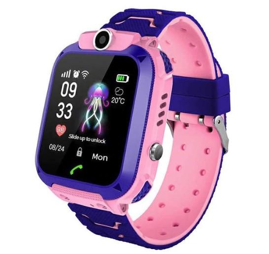 Дитячий Водонепроникний годинник з gps Smart baby Q12 рожевий