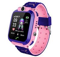 Детские Водонепроницаемые часы с gps Smart baby Q12 розовые