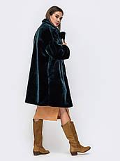 Трендовая женская шуба из искусственного меха в стиле oversize бутилка розмір 44-46 48-50, фото 3
