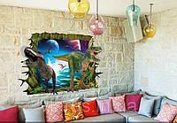 Декоративная наклейка в детскую комнату Динозавры