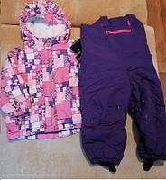 Зимний костюм для девочки состоит из куртки и полукомбинезона