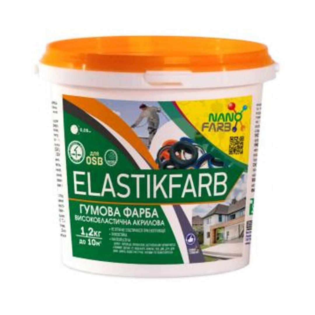 Резиновая краска NanoFarb Elastikfarbe 1.2кг (Белая)